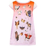 Anne Kurris Pink Ombre Animal Wing Print Dress