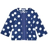 Monnalisa Navy and White Spot Jacket