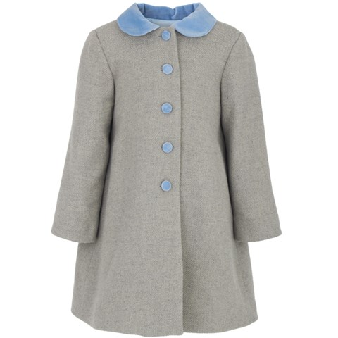 Torres Velvet collar wool coat