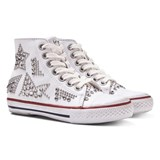 Ash Shoes White Flash Studded Hi Tops
