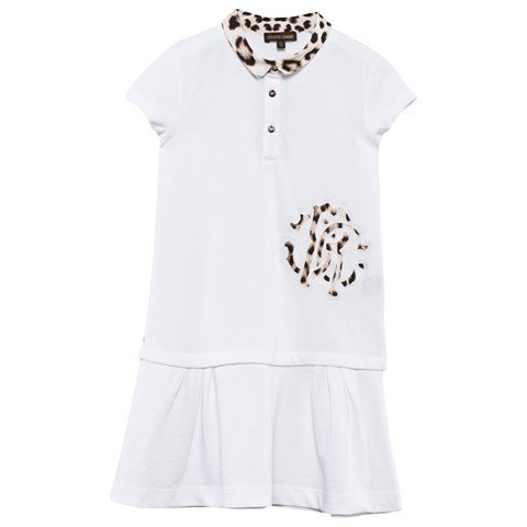 White Pique and Leopard Polo Dress