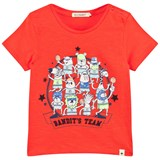 Billybandit Bright Orange Bandit Team Print Tee