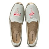 Soludos Flamingo Embroidered Espadrilles