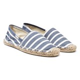 Soludos Blue and White Stripe Espadrilles
