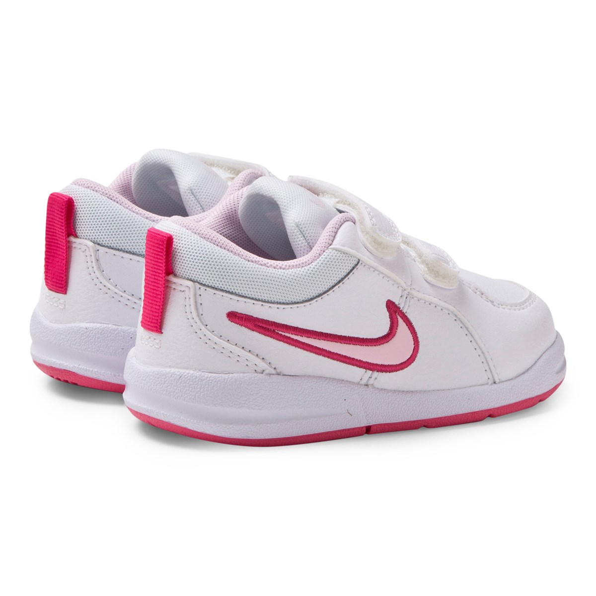 a5d94d30c36 Nike White and Pink Pico 4 Velcro Trainers