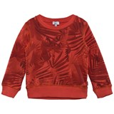 Paul Smith Junior Orange Leaf and Dinosaur Print Sweater