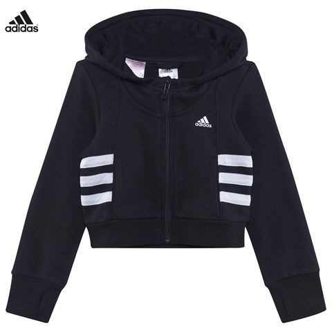 Adidas Performance Cropped Full Zip Hoodie Alexandalexa