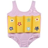 Beverly Kids Yellow Flower Print Float Suit