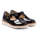 Young Soles Black Patent T-Bar Shoes