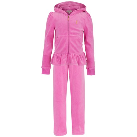 Juicy Couture Pink Ruffle Hem Tracksuit