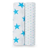 Aden + Anais Pack of 2 Blue Star Swaddles