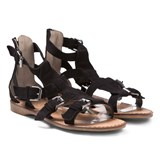 Step2wo Black Roma Suede Sandals