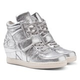 Ash Shoes Silver Babe Wedge Hi-Top Trainers