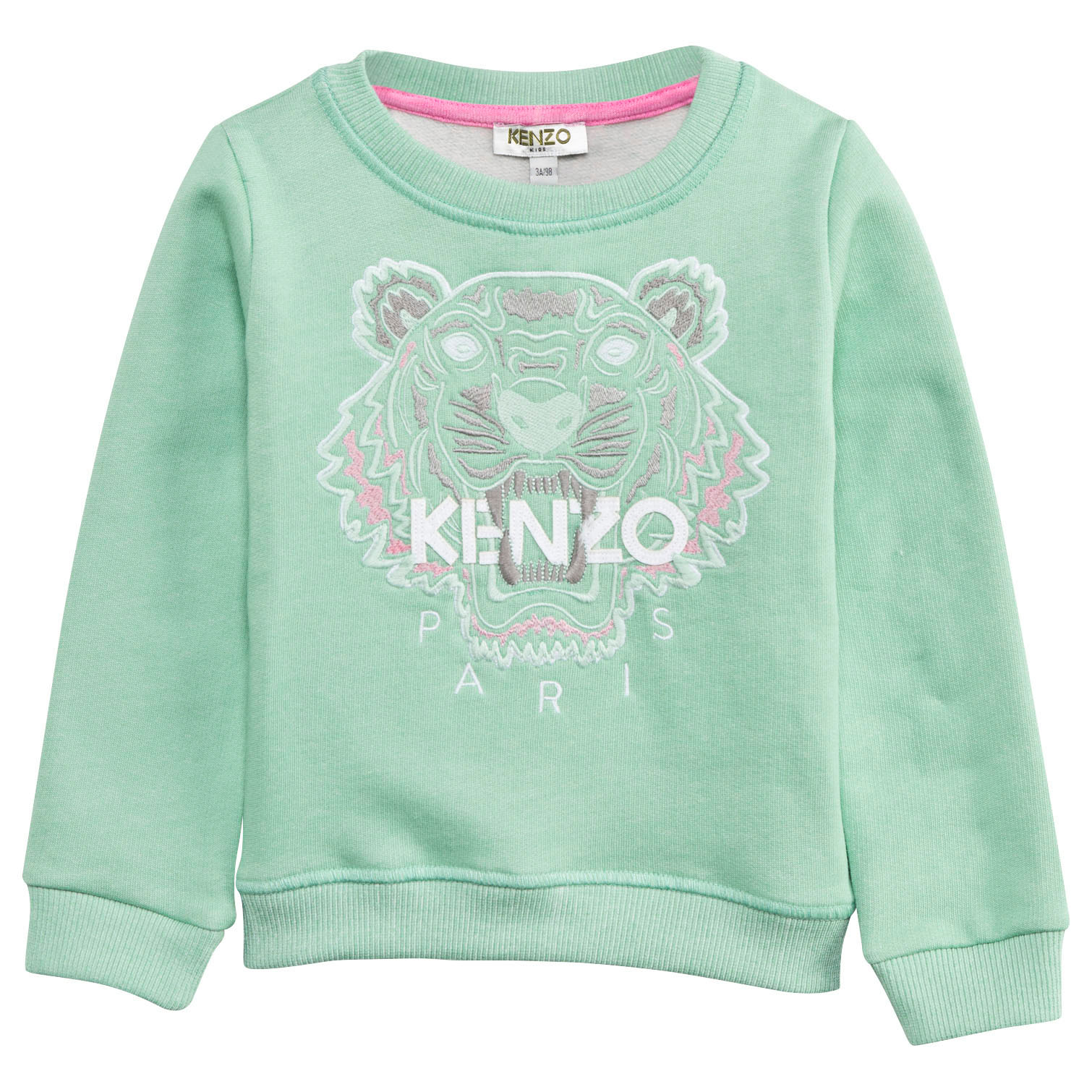 ea2992bad Kenzo Kids Mint Green Embroidered Tiger Sweatshirt | AlexandAlexa
