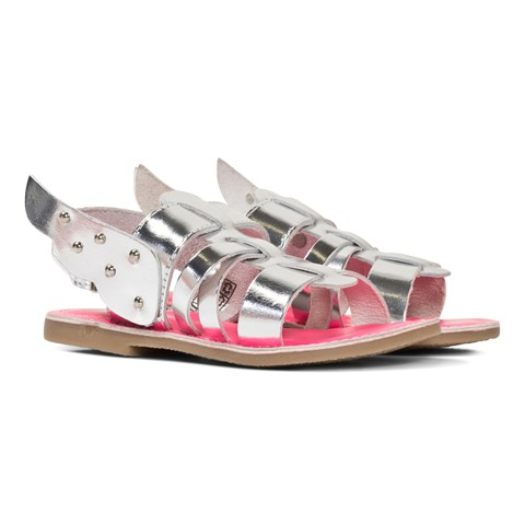 Billieblush Silver Gladiator Sandal With Studded Wings