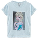 Little Eleven Paris Pale Blue Elsa Frozen Print Tee