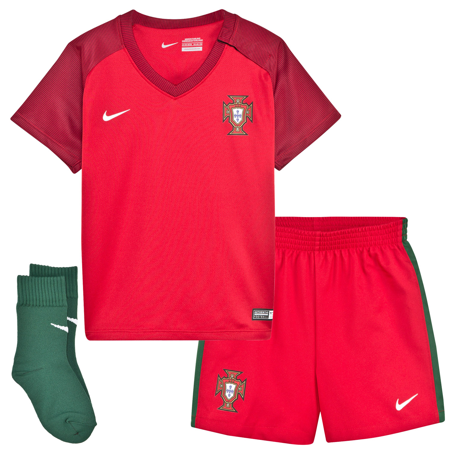 Portugal National Football Team Euro 2016 ficial Home Infant Kit