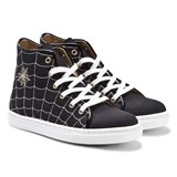 Charlotte Olympia Black Incy Web Hi-Top Trainers