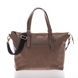 Jem + Bea Taupe Leather Beatrice Changing Bag