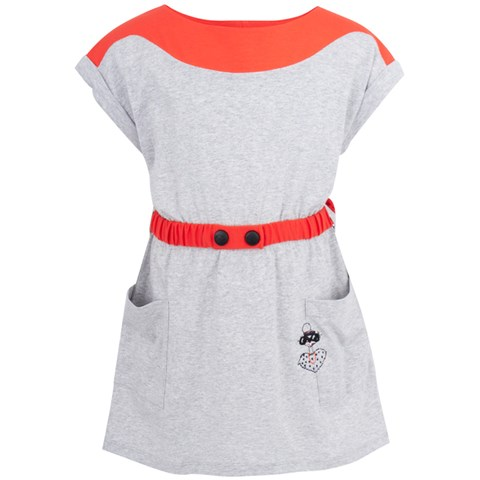 Little Marc Jacobs Grey & Coral Jersey Dress