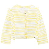 Miss Grant Yellow Woven Tassle Jacket