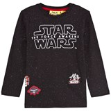 Fabric Flavours Black Star Wars Speckled Tee