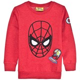 Fabric Flavours Red Spiderman Applique Badge Sweatshirt