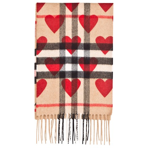 Burberry Nova Check and Heart Print Cashmere Scarf