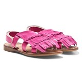 Step2wo Pink Suede Fringe Sandals
