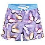 Thomas Royall Purple Emperor Butterfly Print Swim Trunks