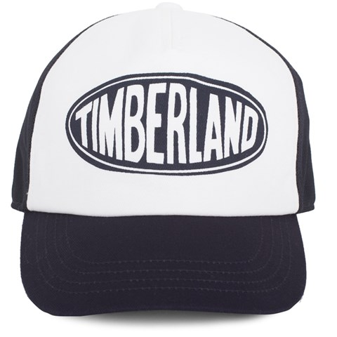 Timberland Kids Blue & White Branded Cap