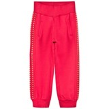 Monnalisa Red Track Pants with Gold Studs