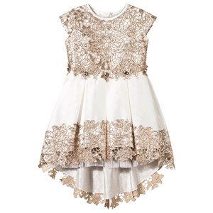 LESY | Lesy Lesy Gold And Off-White Embroidered Lace Dress 10 Years | Goxip