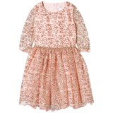 David Charles Blush Sequin and Embroidered Floral Tulle Dress