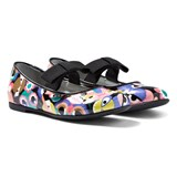 Fendi Monster Print Mary Janes with Bow