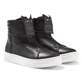 Fendi Black Leather Monster Hi Top Trainers