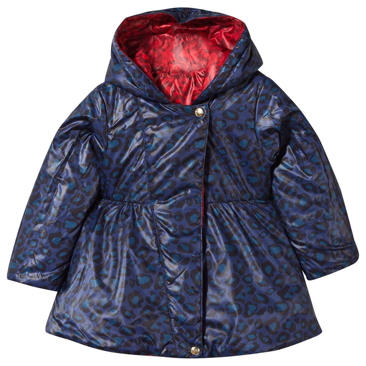 086b7546ad6c Little Marc Jacobs Navy and Red Reversible Leopard Print Puffer Coat ...