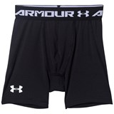 Under Armour Black and White Armour Baselayer Mid Shorts