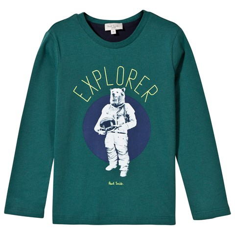 Paul Smith Junior Green Bear Astronaut Print Tee