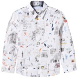 Paul Smith Junior White City Drawing Object Print Shirt