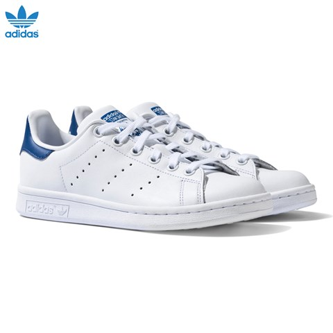 White and Blue Stan Smith Trainers