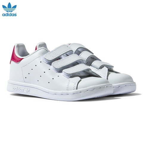 White and Pink Infants Stan Smith