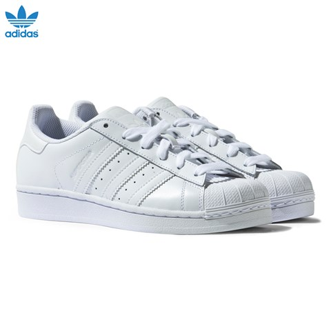 adidas Originals All White Superstar Trainers