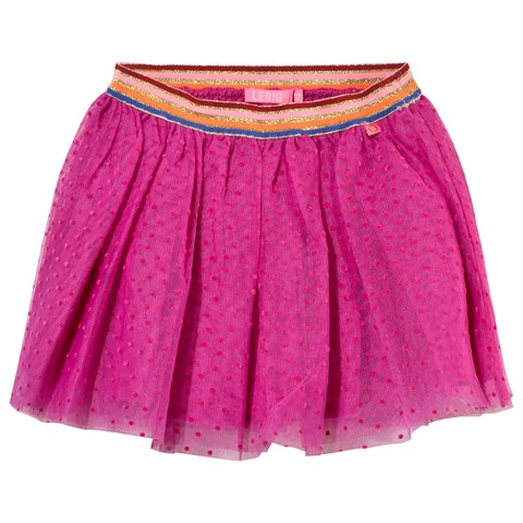 Pink Spot Tulle Skirt with Lurex Waistband