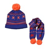 Billybandit Blue Pacman Knitted Beanie and Scarf Set