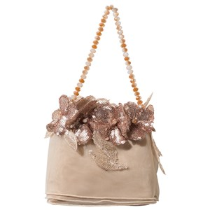 LESY | Lesy Cream And Rose Gold Floral Applique Tote Bag One Size | Goxip