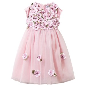 LESY | Lesy Lesy Pink Tulle Dress With Leather Flower Appliques 2 Years | Goxip