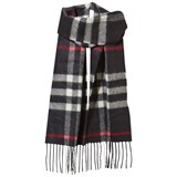 Burberry Navy Cashmere Check Scarf