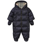 Burberry Navy Snowsuit with Mittens