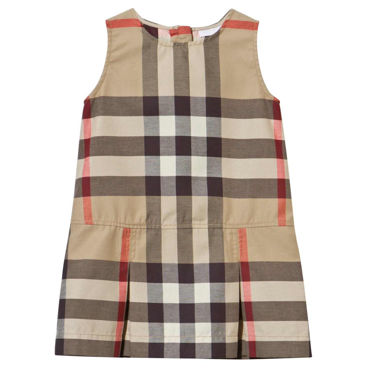 7f792cfffde Burberry Classic Beige Check Pinafore Dress